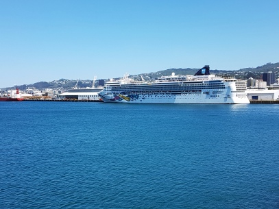 NCL Cruise Ship in port at Wellington