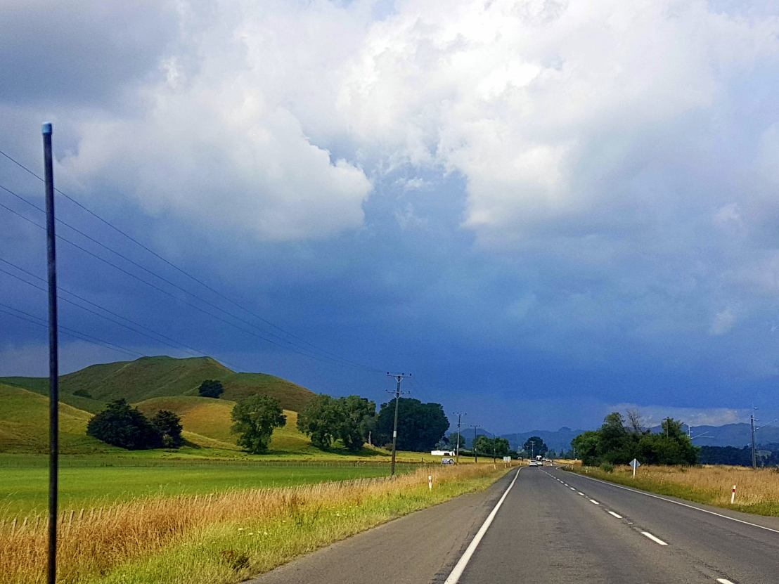 Fantastic Storm Colours going through Taihape