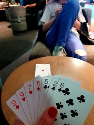 Playing Last Card at the airport