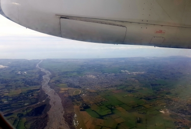 Flying into Christchurch